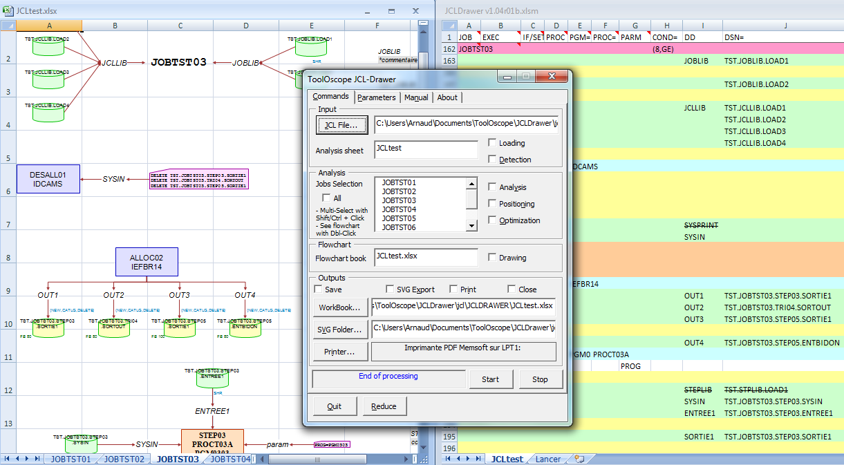 jcl drawer is a software that makes the flowchart of a job from its jcl source code job control language a scripting language used to run batch jobs on - Flowchart Drawer
